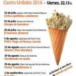 Cine de Verano en Castro Urdiales 2016
