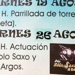 Concierto de Solo Saxo y David Argos en Villaverde de Pontones