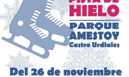 Pista de hielo en el Parque Amestoy de Castro Urdiales