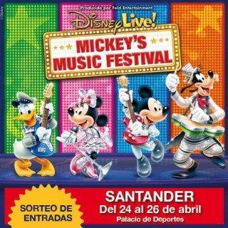 SORTEO de 3 ENTRADAS para el Mickey's Music Festival en Santander