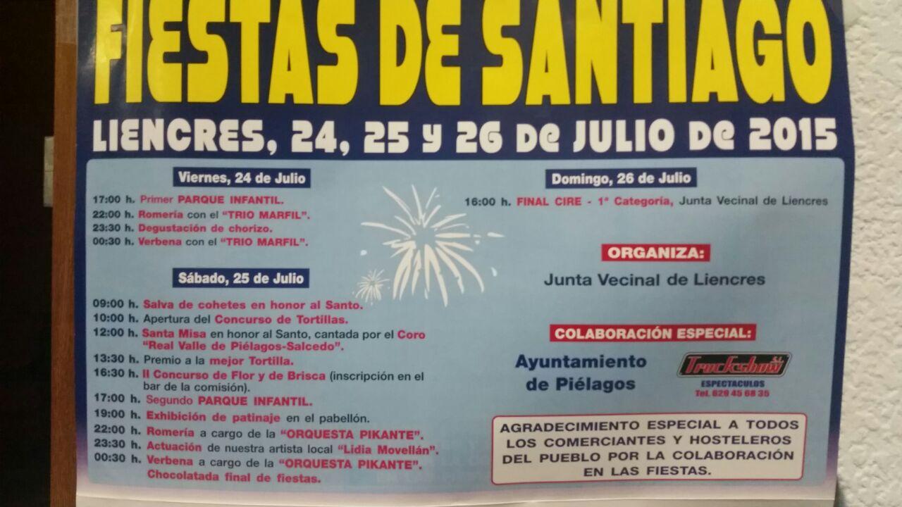 Fiestas de santiago en liencres miplanhoy agenda de for Concierto hoy en santiago