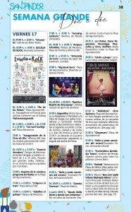 programa semana grande Santander Fiestas de Santiago 2015 - viernes 17