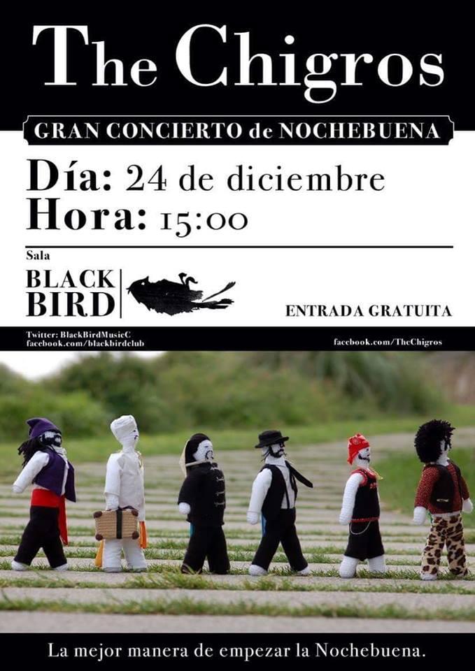 Concierto de the chigros en el black bird de santander for Conciertos madrid hoy