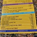 Hamburguesas y raciones bar Mora Santander