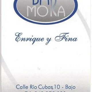 tarjeta visita bar Mora Santander