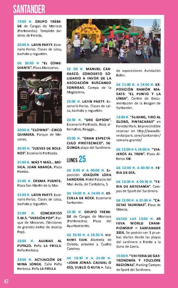 Semana grande de santiago en santander 2016 miplanhoy for Conciertos en santiago 2016