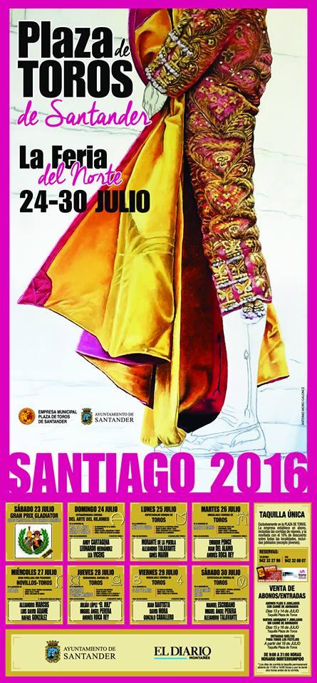 Feria taurina de santiago en santander 2016 miplanhoy for Conciertos en santiago 2016