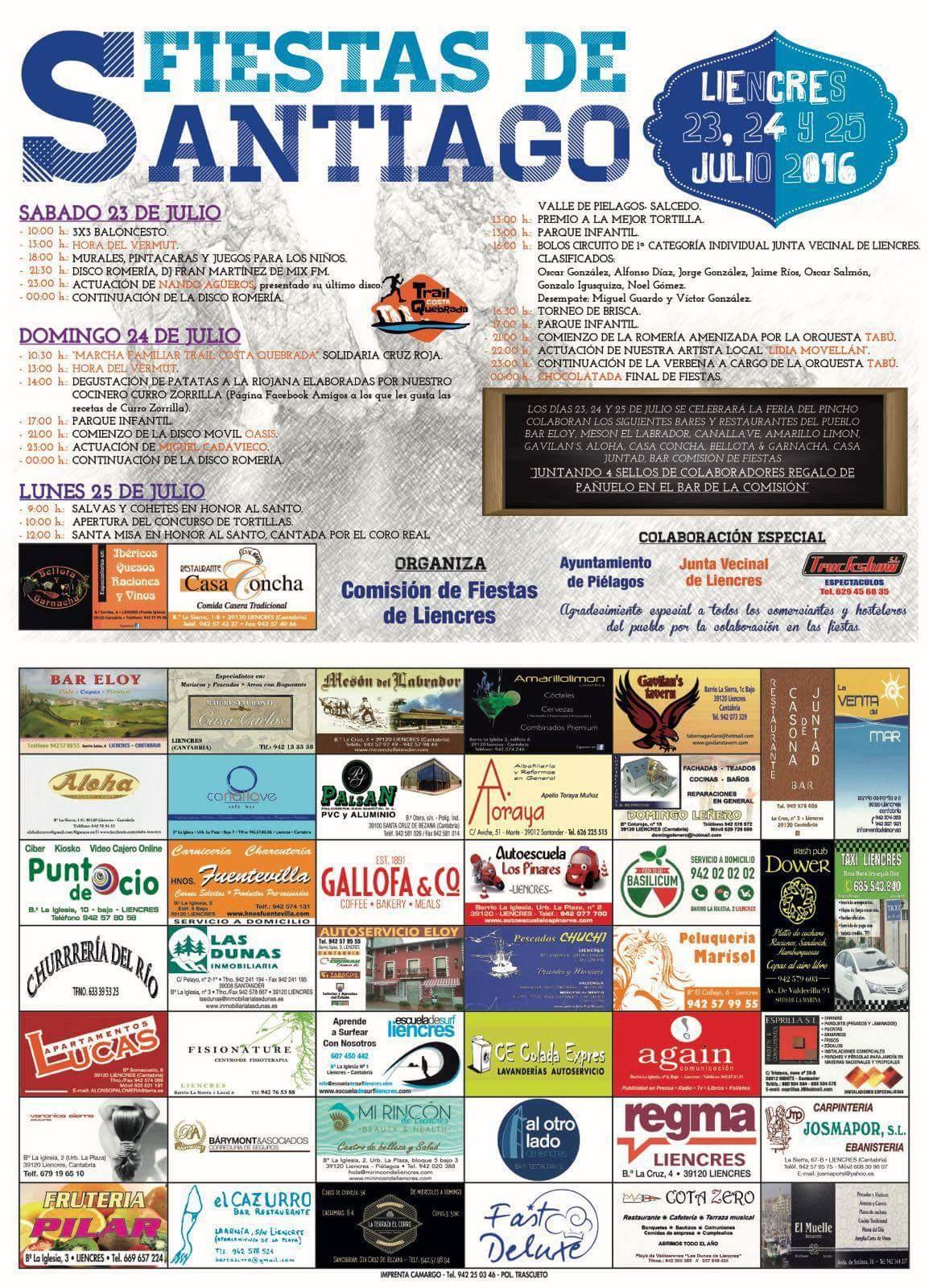 Fiestas de santiago en liencres 2016 miplanhoy agenda for Concierto hoy en santiago