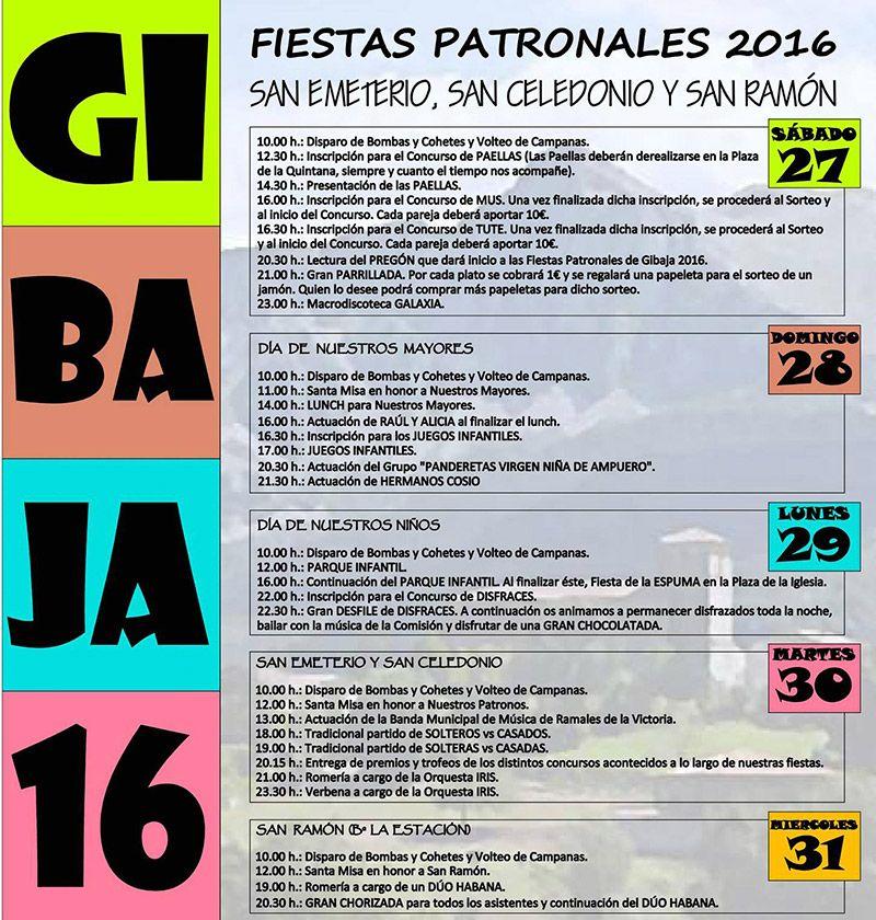 Fiestas patronales en gibaja 2016 miplanhoy agenda de for Conciertos madrid hoy
