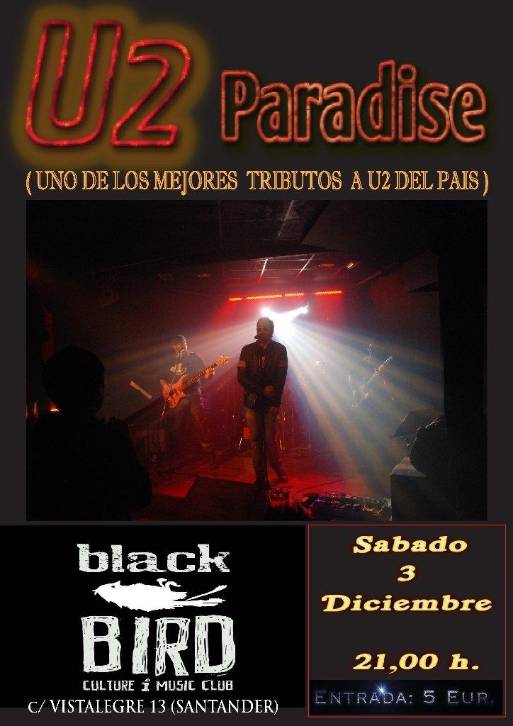 Concierto de u2 paradise en el black bird de santander for Conciertos madrid hoy