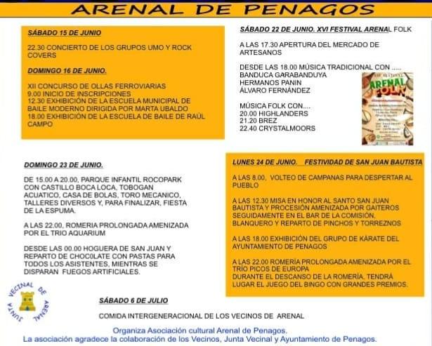 FIESTAS DE SAN JUAN 2019 EN ARENAL DE PENAGOS