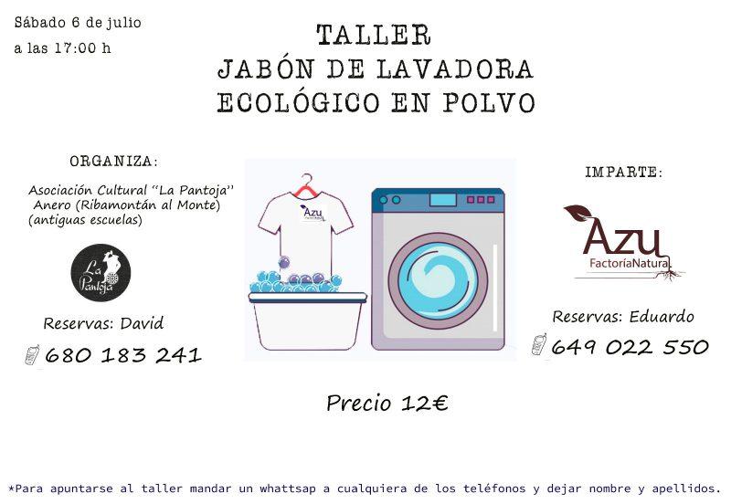 TALLER: Jabón de lavadora ecológico en polvo