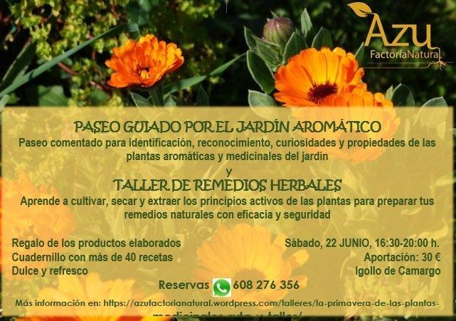 PASEO GUIADO POR EL JARDÍN AROMÁTICO Y TALLER DE REMEDIOS HERBALES