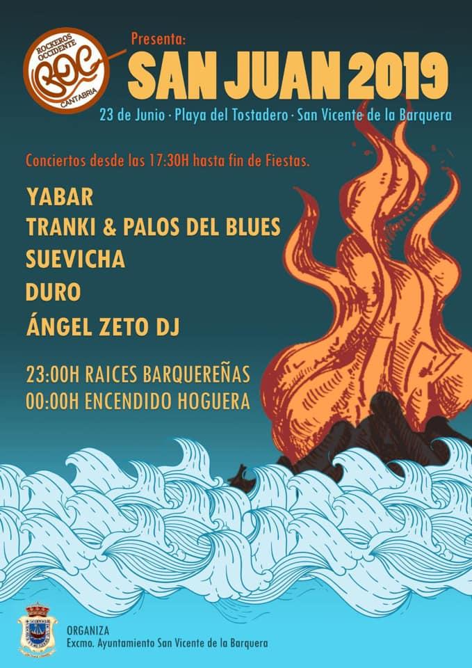 Hoguera de San Juan en San Vicente de la Barquera 2019