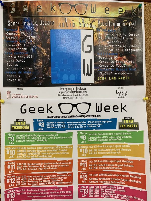 Geek week en Bezana