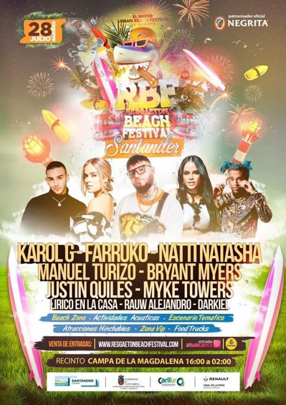 Reggaeton Beach Festival Santander 2019