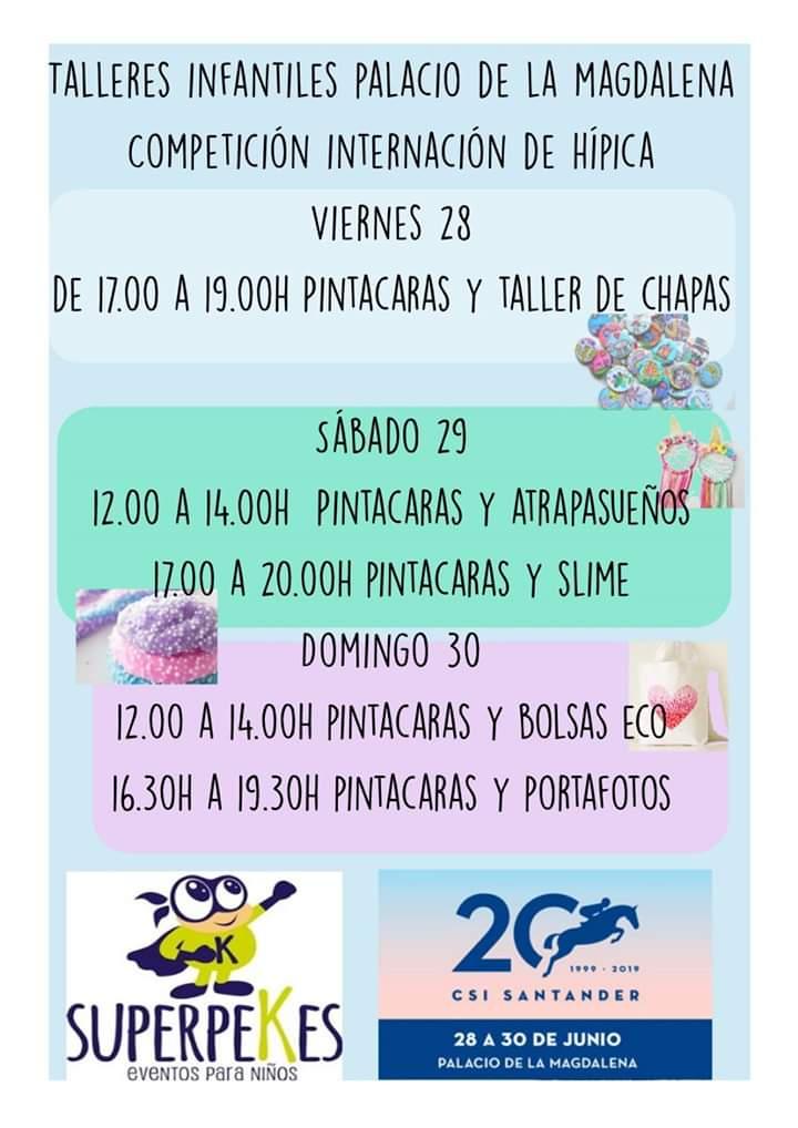 Talleres infantiles en Santander 2019