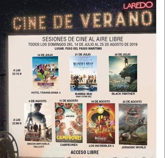 Cine de verano en Laredo 2019