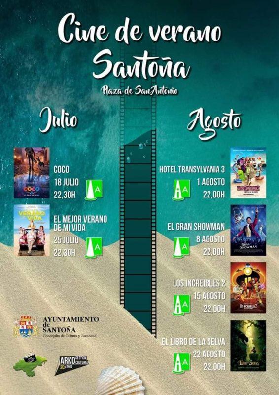 Cine de verano en Santoña 2019