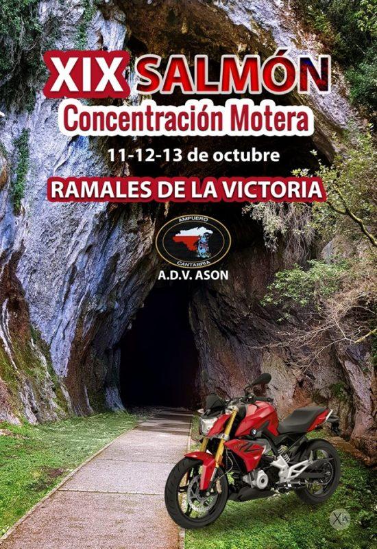 Concentración de motos Salmón 2019 en Ramales de la Victoria