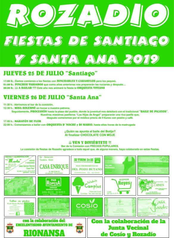 Fiestas de Rozadío 2019
