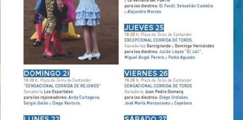 Feria taurina de Santiago en Santander 2019