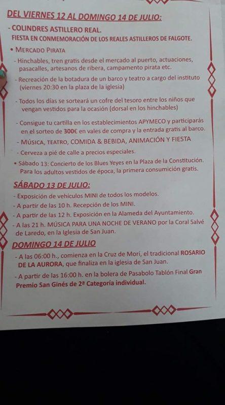 Fiesta del Astillero Real en Colindres 2019