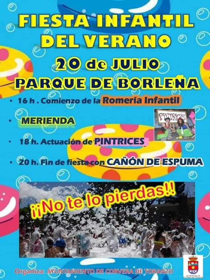Fiesta infantil de verano en Corvera de Toranzo