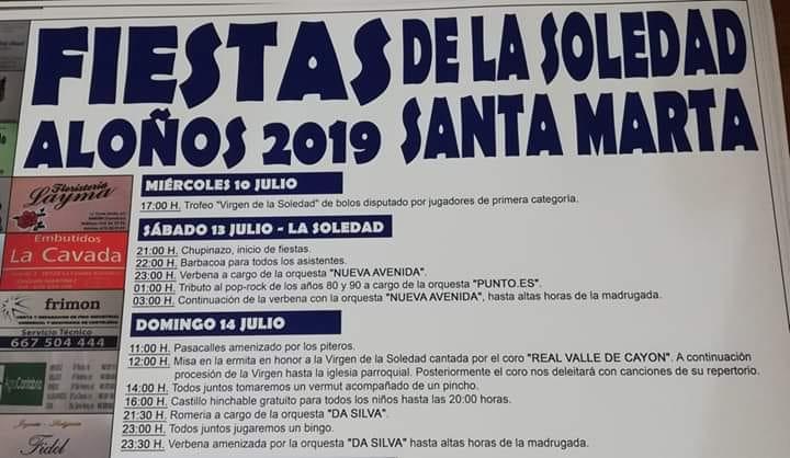 Fiestas de La Soledad en Aloños 2019