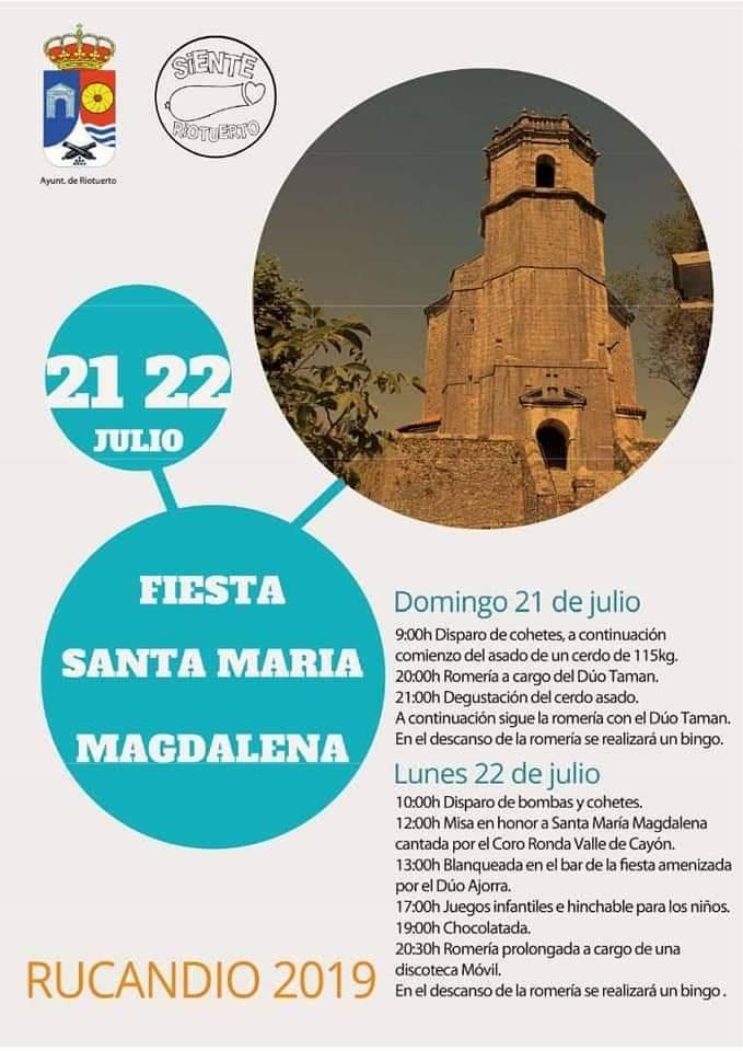 Fiestas de SAnta María Magdalena en Rucandio 2019