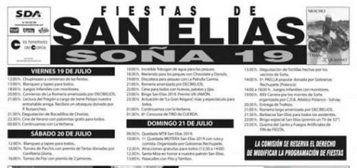 Fiestas de San Elias en Soña 2019