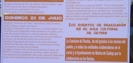 Fiestas de Santa María Magdalena en Setién 2019