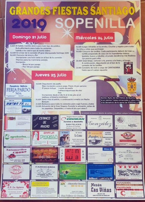 Fiestas de Santiago en Sopenilla 2019