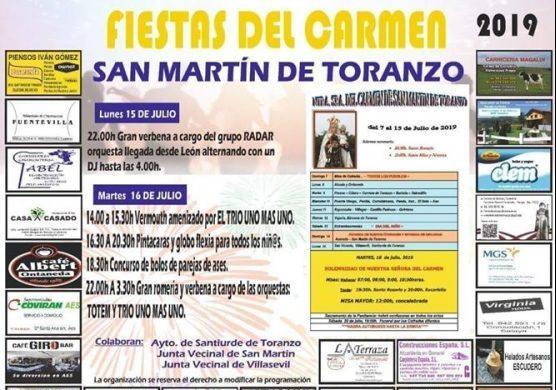 Fiestas del Carmen en San Martín de Toranzo 2019