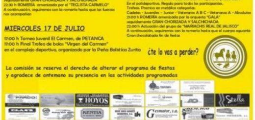 Fiestas del Carmen en Zurita de Piélagos 2019