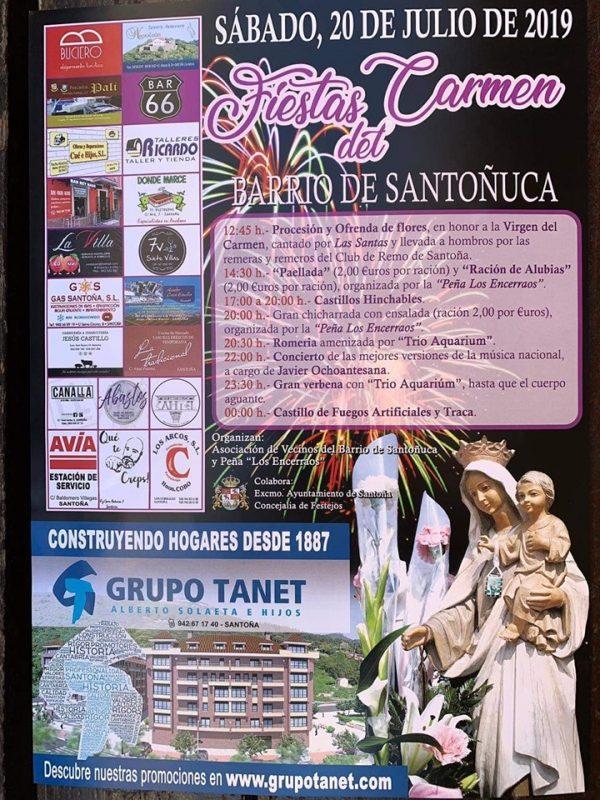 Fiestas del Carmen en el Bº Santoñuca de Santoña 2019