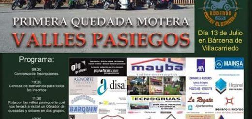 ! Queada Motera solidaria Valles Pasiegos en La Charola de Bárcena de Villacarriedo
