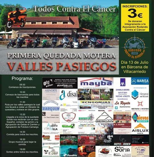 Quedada Motera solidaria Valles Pasiegos en La Charola de Bárcena de Villacarriedo