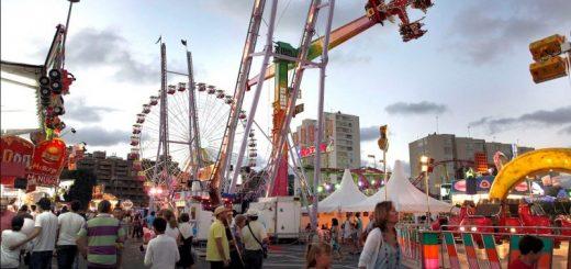 Recinto ferial y atraciiones de SAntiago en Santander 2019