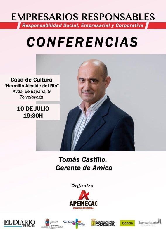 Conferencia de Empresarios Responsables: Tomás Castillo, gerente de Amica