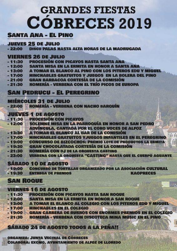 Fiestas de Cóbreces 2019