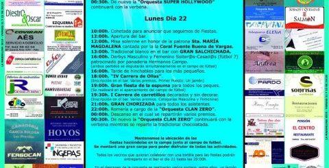 Fiestas de la Magdalena 2019 en Vargas