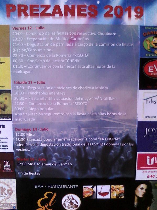 Fiestas del Carmen en Prezanes 2019