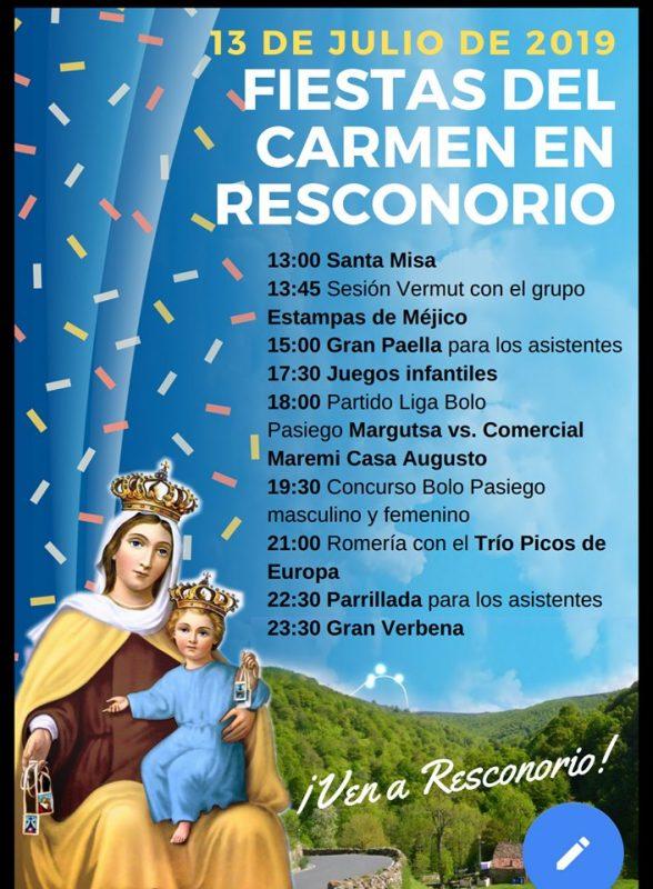 Fiesta del Carmen en Resconorio 2019