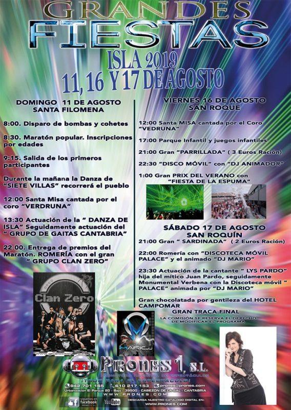 Fiestas de Isla 2019