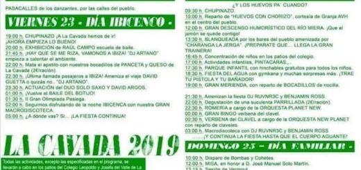 Fiestas de La Juventud en La Cavada 2019