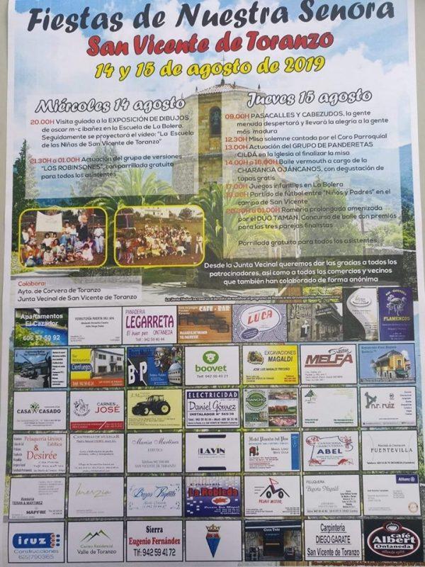 Fiestas de Nuestra Señora en San Vicente de Toranzo 2019