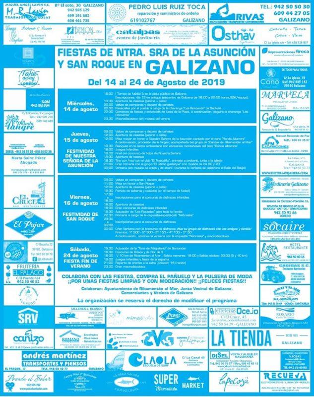 Fiestas de Nuestra Señora y San Roque en Galizano 2019