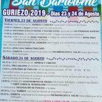 Fiestas de San Bartolomé en Guriezo 2019
