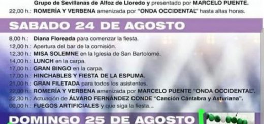 Fiestas de San Bartolomé en Oreña 2019
